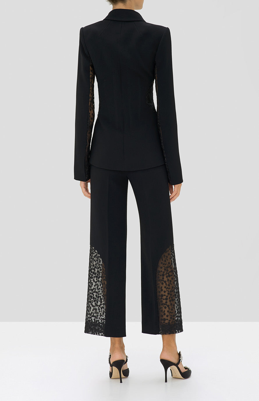 Alexis Novata Pant and Amrita Jacket in Black from the Holiday 2019 Ready To Wear Collection - Rear View
