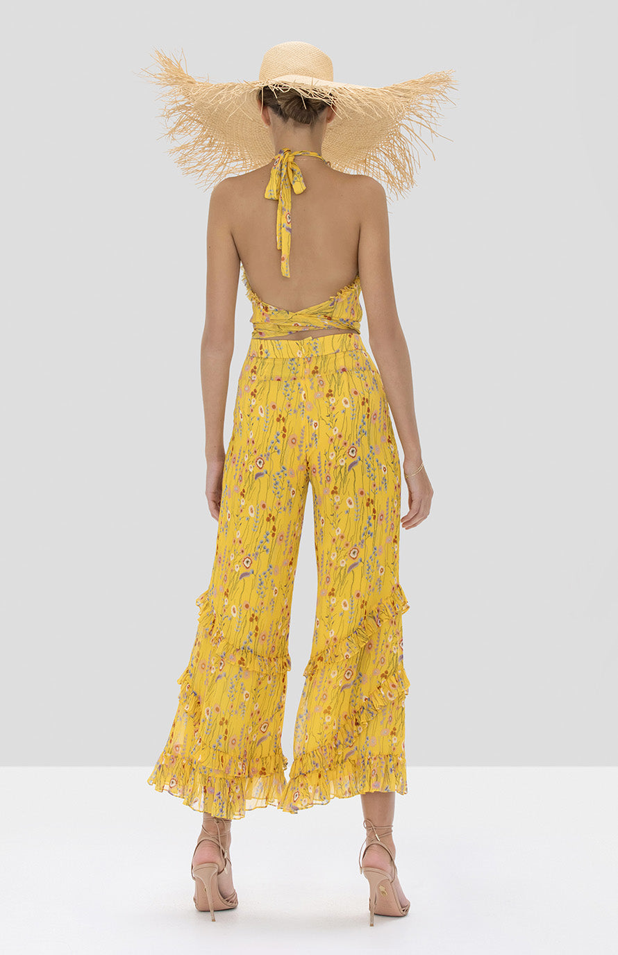 Alexis Balbina Top and Faizel Pant in Sunrise Bouquet from Spring Summer 2020 Collection - Rear View