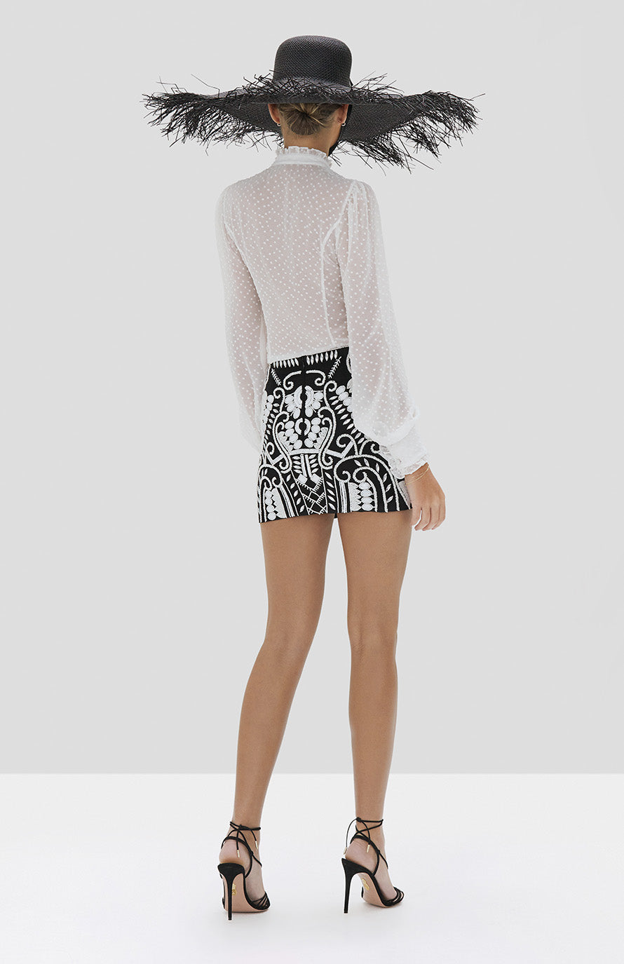Alexis Benham Top in White from the Spring Summer 2020 Collection - Rear View