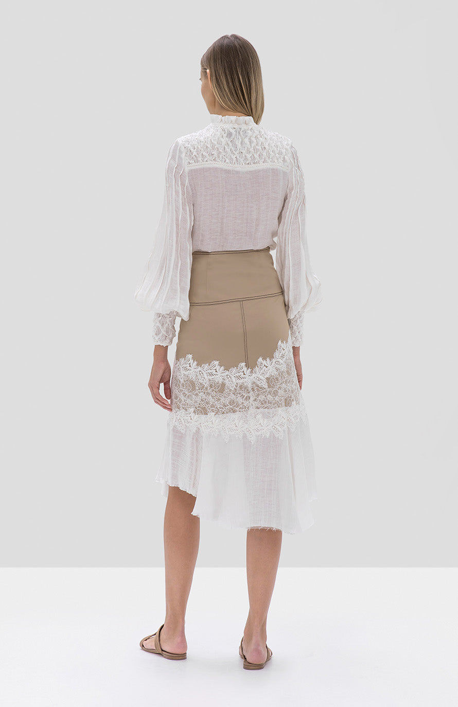 Alexis Minelli Top and Beretti Skirt - Rear View