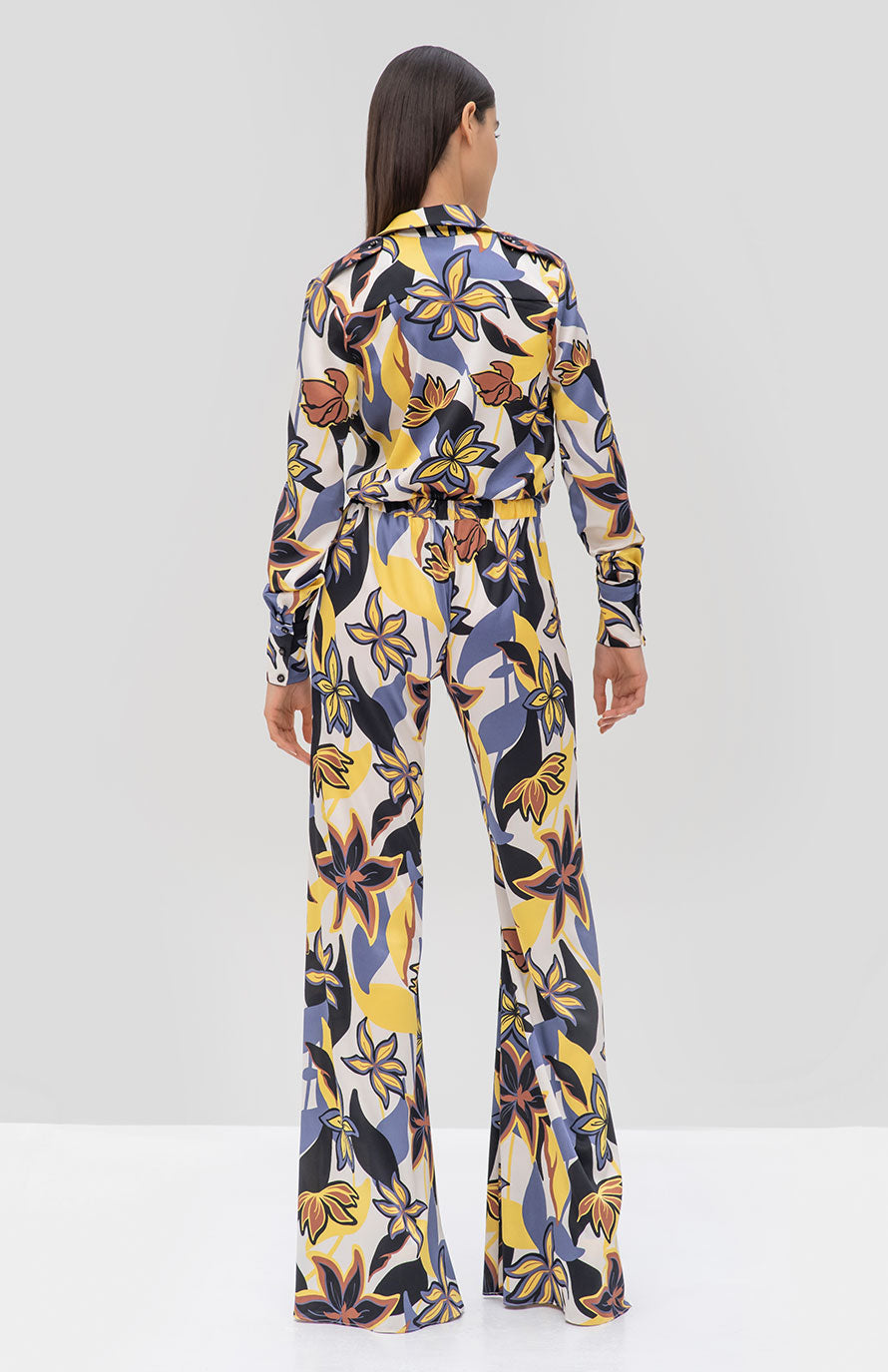 Alexis Beru Top and Zeva Pant in Tahitian Floral from the Pre Fall 2019 Ready To Wear Collection - Rear View