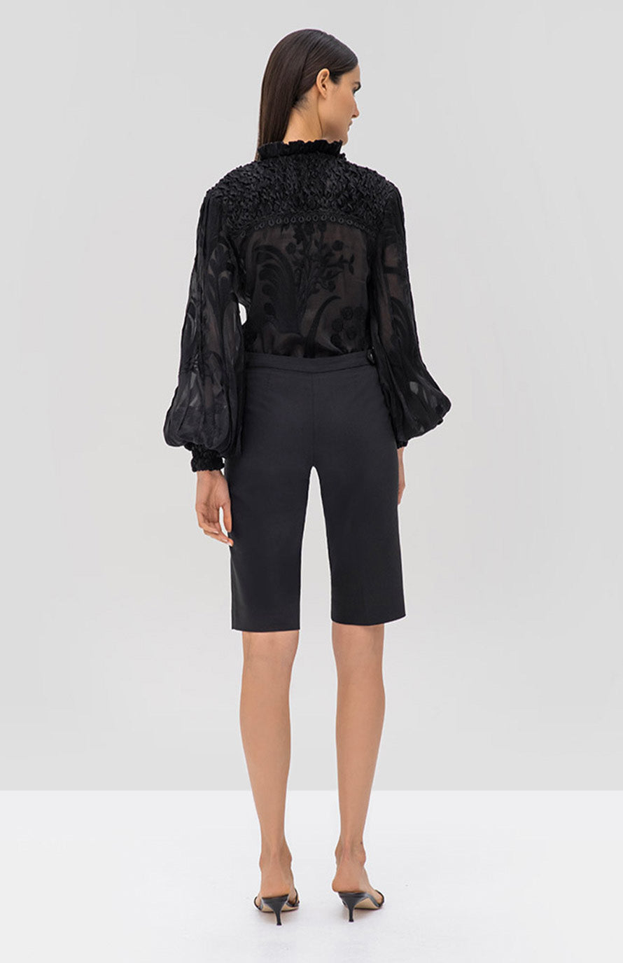 Alexis Bismarck Top in Black from the Pre Fall 2019 Ready To Wear Collection - Rear View