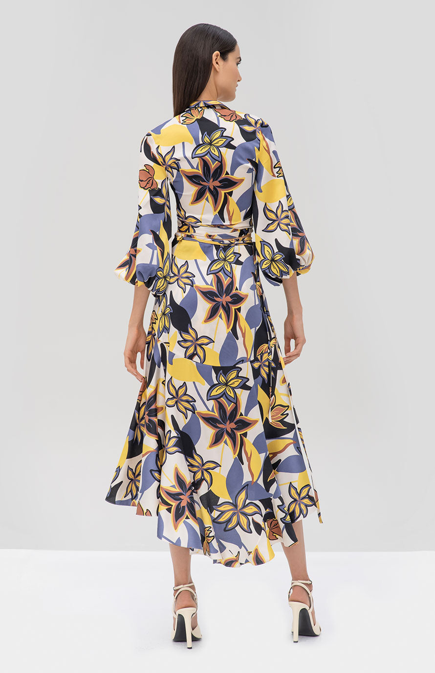 Alexis Bonet Top and Kamari Skirt in Tahitian Floral from the Pre Fall 2019 Ready To Wear Collection - Rear View