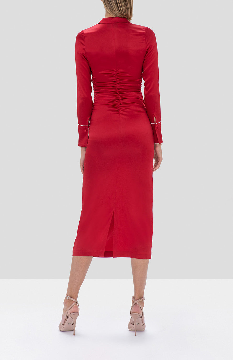 Alexis Candace Dress in Red - Rear View