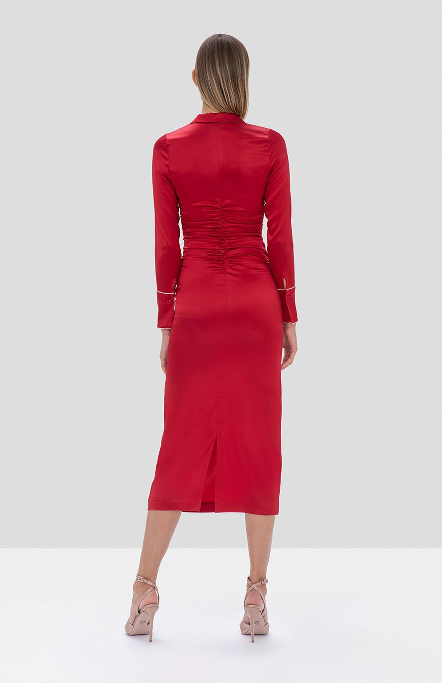 Candace Dress Red - Rear View