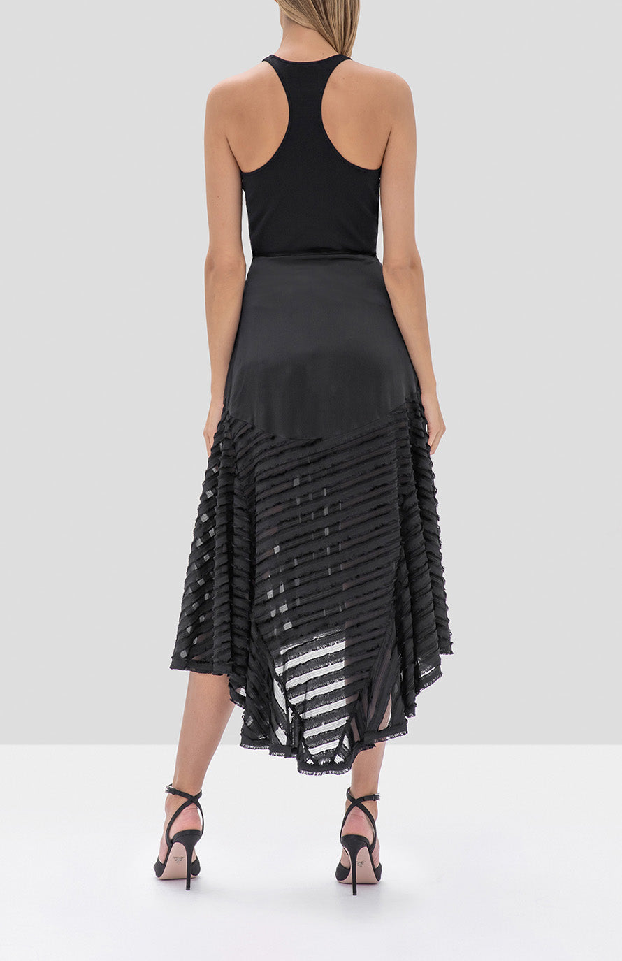 Alexis Danos Skirt in Black from the Fall Winter 2019 Ready To Wear Collection - Rear View
