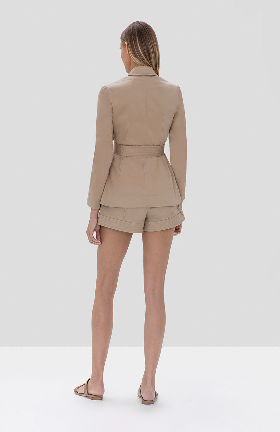 Elka Jacket Winnick Shorts Tan - Rear View