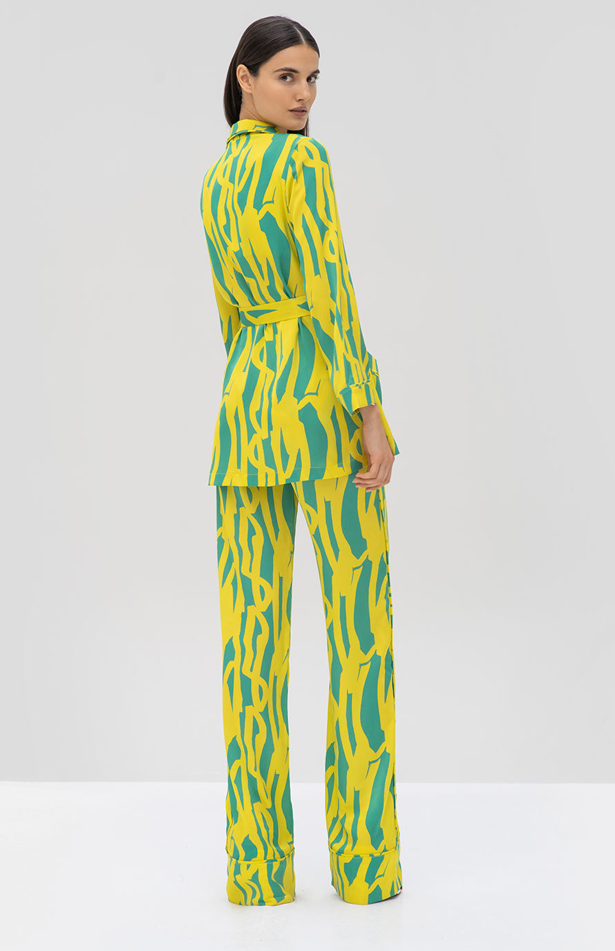 Alexis Eneko Robe and Kylian Pant Citrus Gehry - Rear View