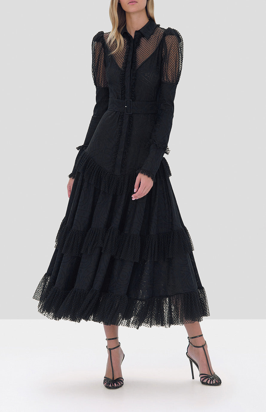 Alexis Evarra Dress in Black from the Fall Winter 2019 Ready To Wear Collection - Rear View