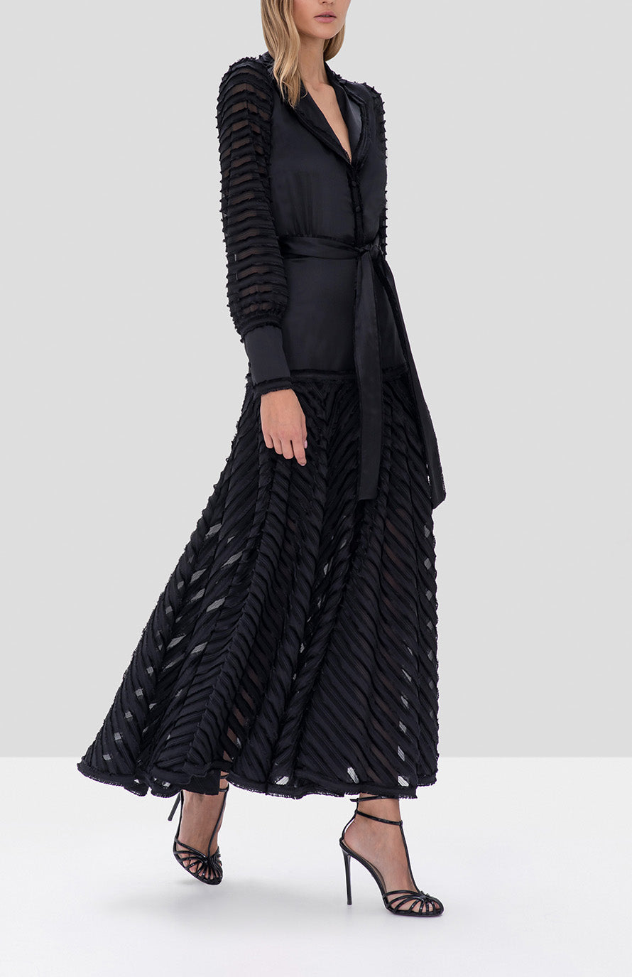 Alexis Juliska Dress in Black from the Fall Winter 2019 Ready To Wear Collection - Rear View