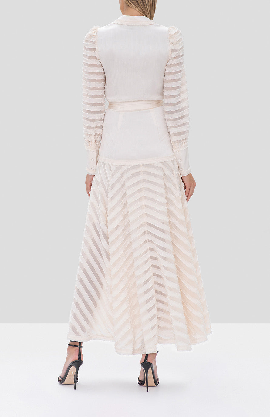 Alexis Juliska Dress in Off White - Rear View