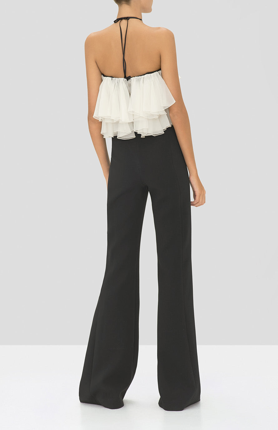 Alexis Kaiya Jumpsuit in Black from the Holiday 2019 Ready To Wear Collection - Rear View