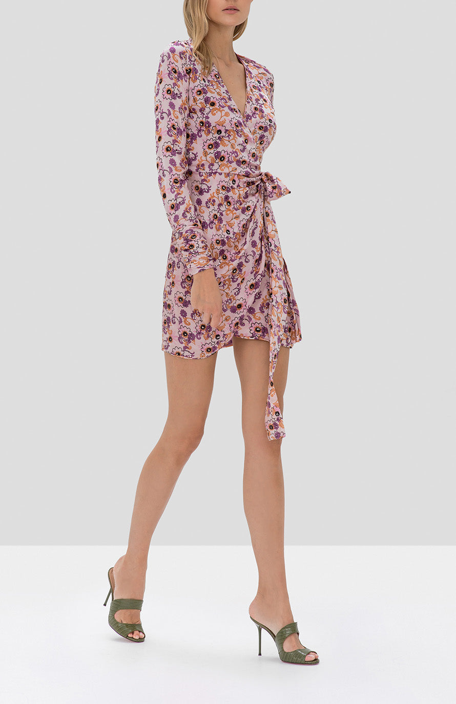 Alexis Kari Dress in Lilac Beaded Floral - Rear View