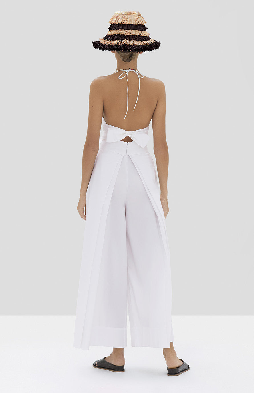 Alexis Linos Top and Bandol Pant in White from Spring Summer 2020 Collection - Rear View
