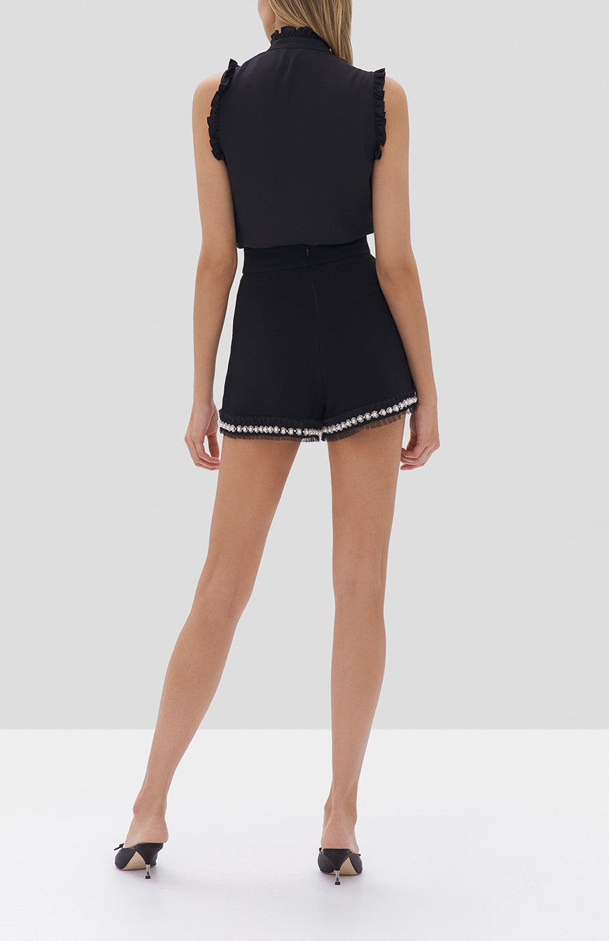 Alexis Lois Top in Black and Kendrick Shorts in Black - Rear View