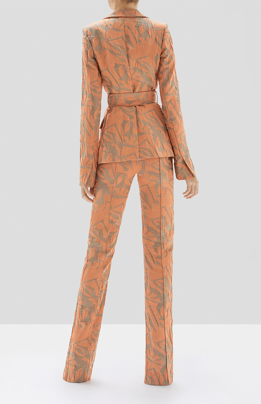 Alexis Malda Jacket and Attila Pant in Amber from the Pre Spring 2020 Collection - Rear View