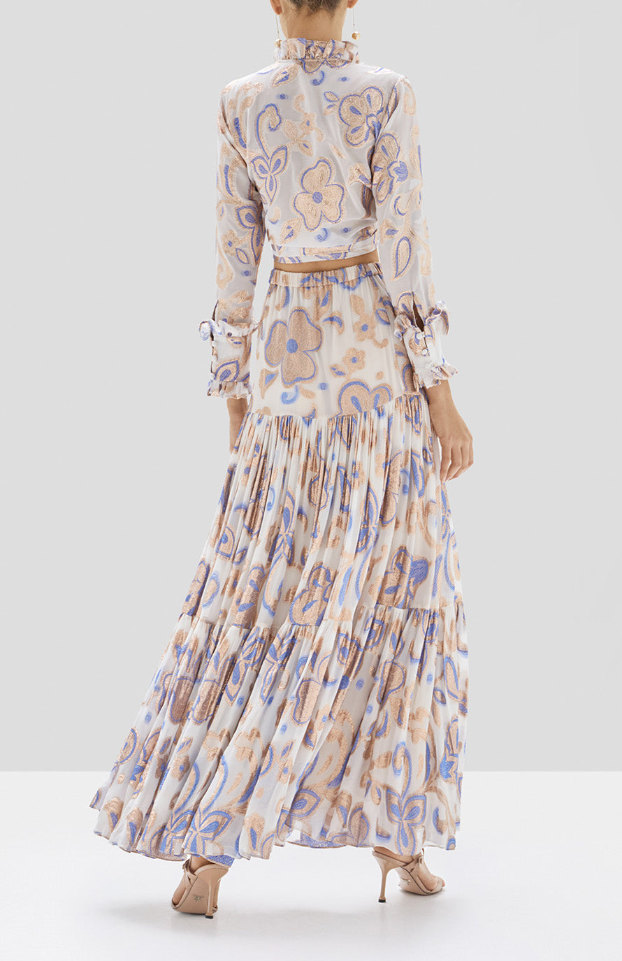 Alexis Marceau Top in Cerulean Garden from the Pre Spring 2020 Collection - Rear View
