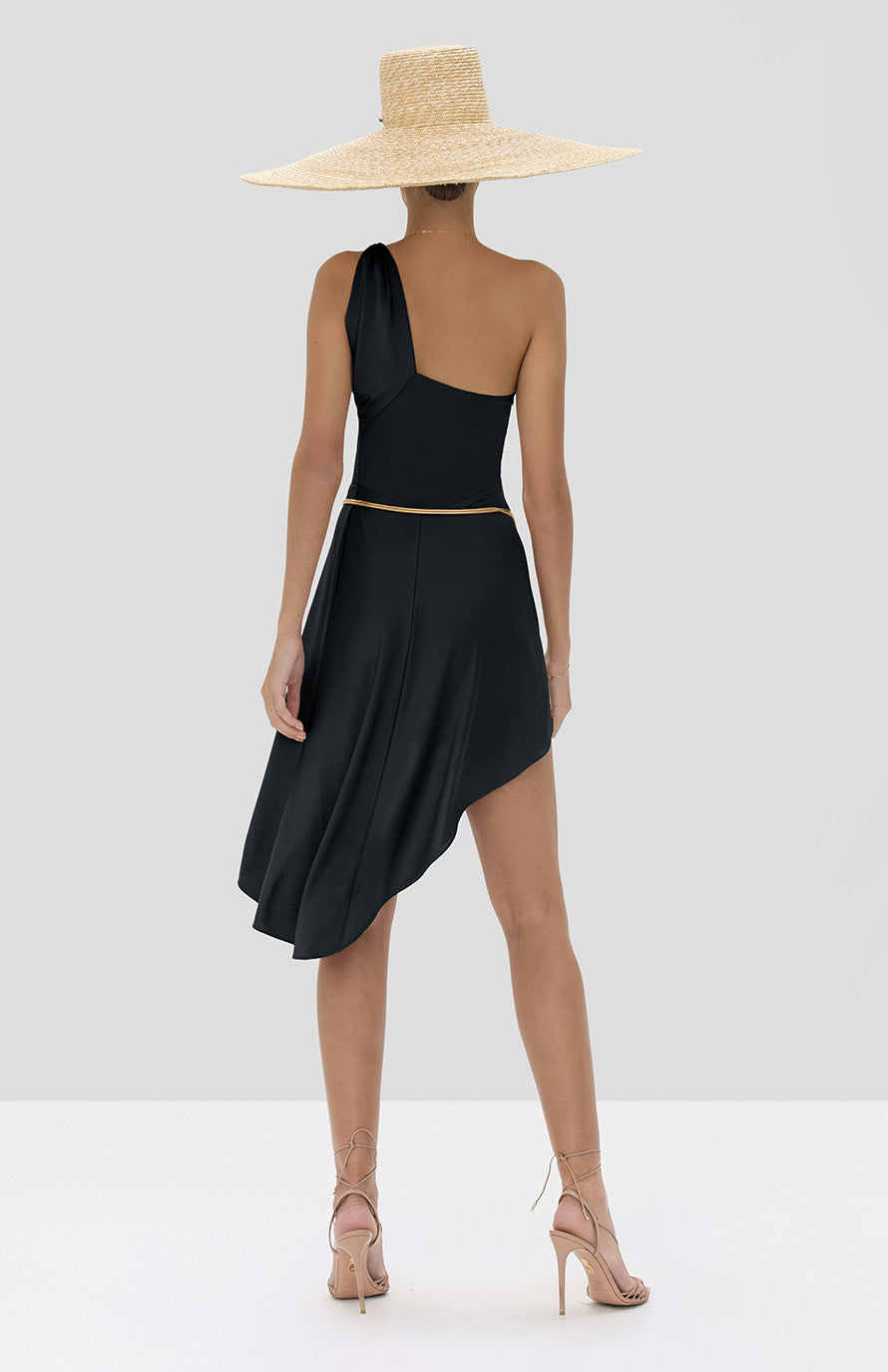 Alexis Mellie Dress in Black from the Spring Summer 2020 Collection - Rear View