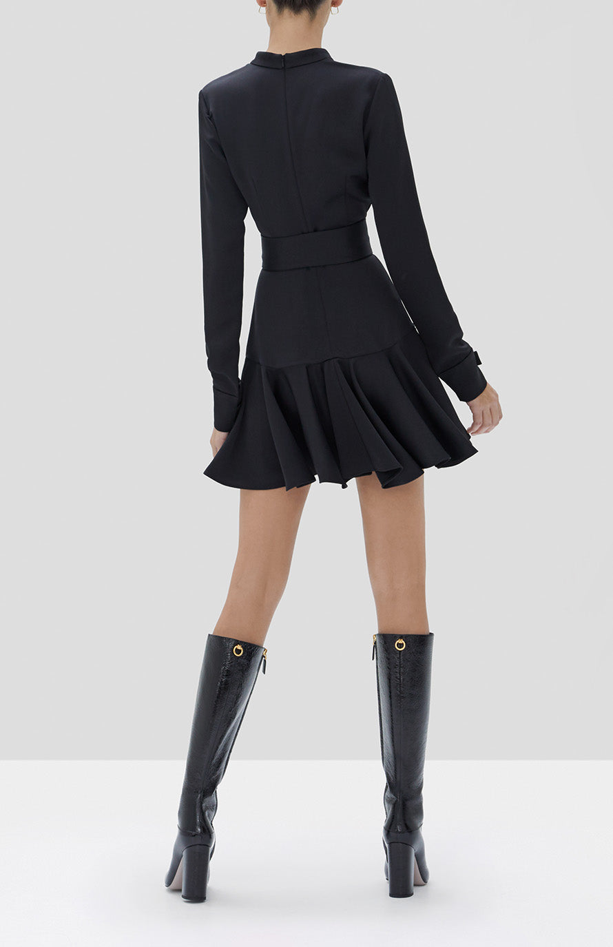 ALEXIS Meredith Dress in Black - Rear View