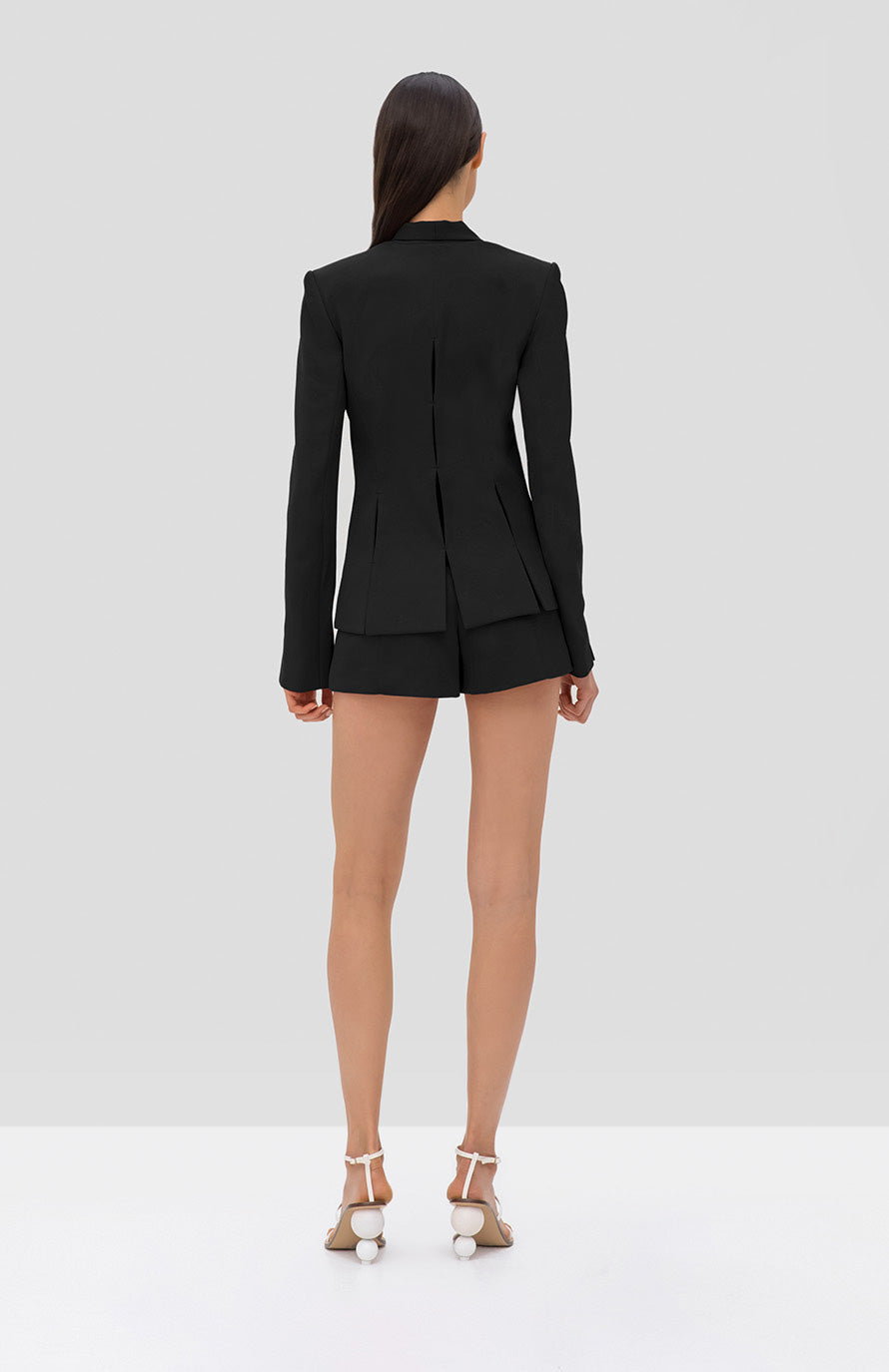 Alexis Vaska Blazer and Mikli Short Black - Rear View