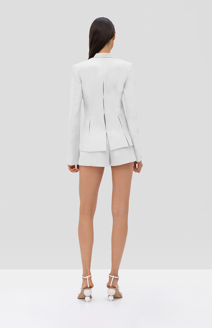 Alexis Vaska Blazer and Mikli Short White - Rear View