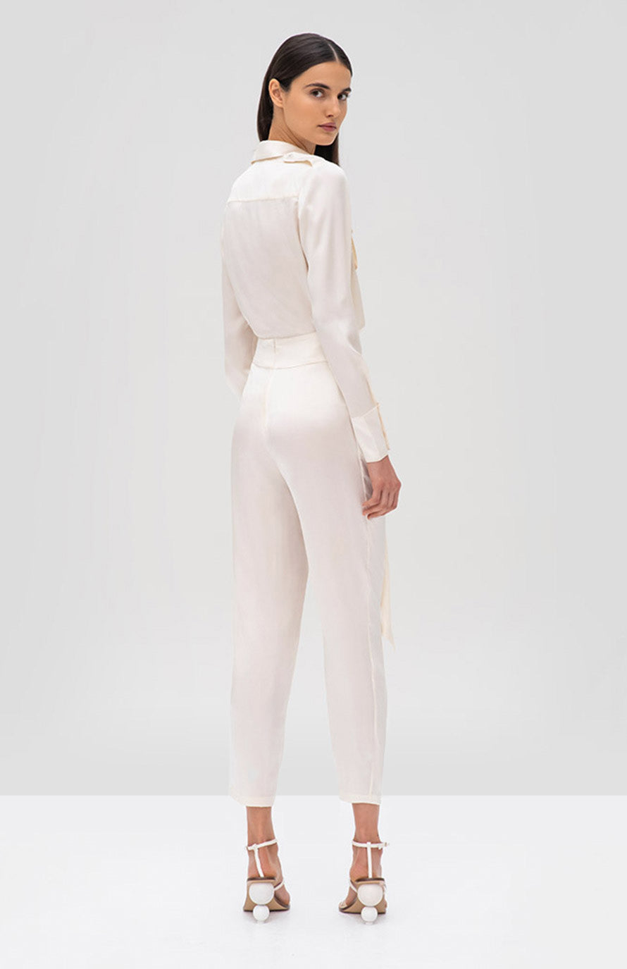 Alexis Montrose Top and Judson Pant Ivory - Rear View