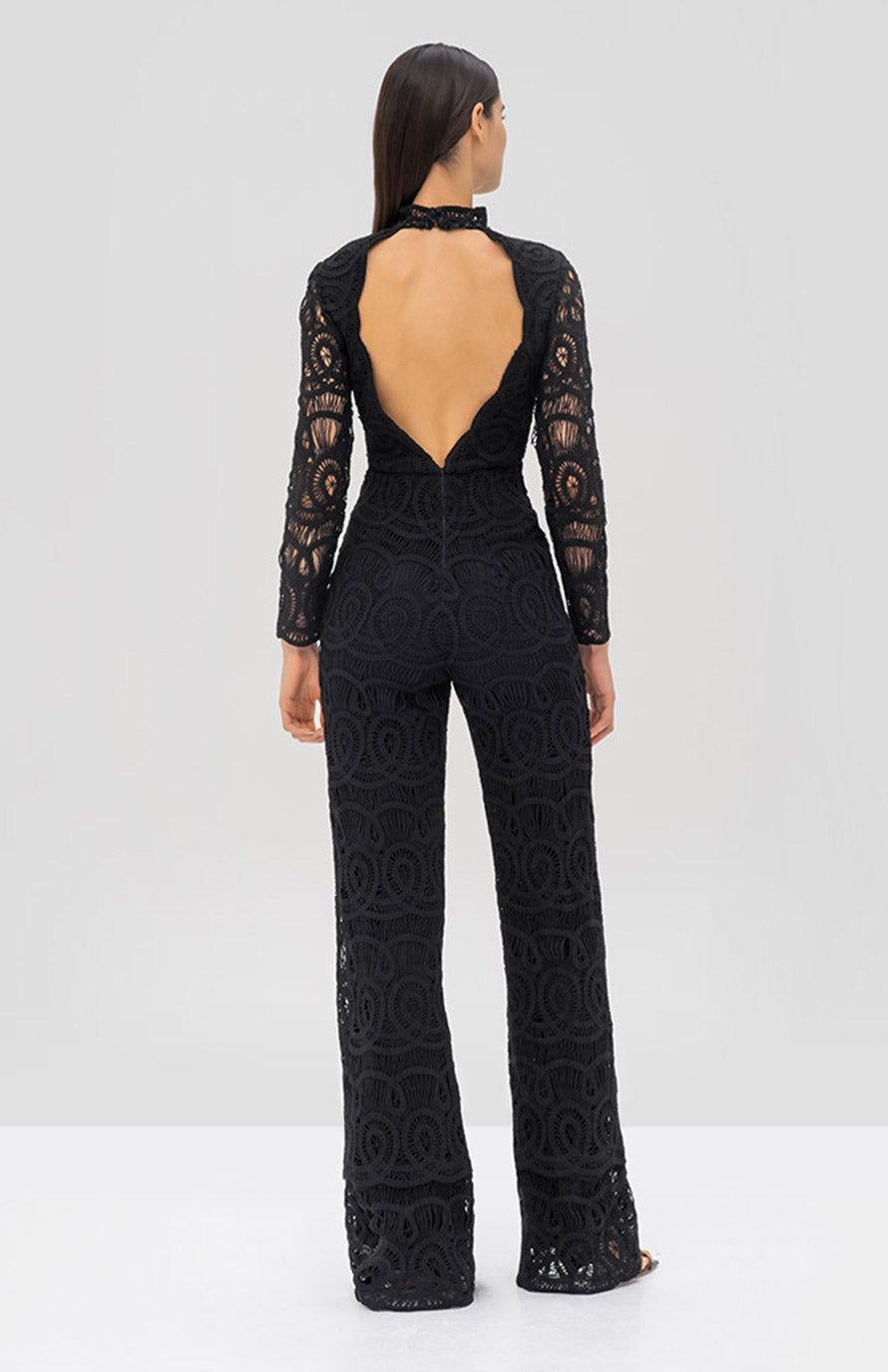 Alexis Onatta Jumpsuit Black - Rear View