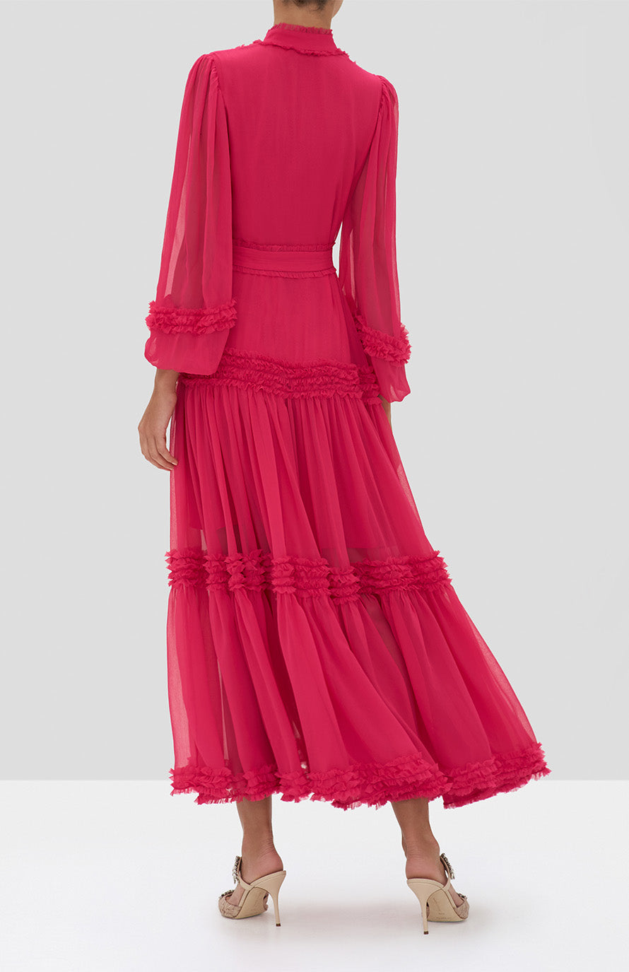 Alexis Patrizia Dress in Azalea Pink from the Holiday 2019 Ready To Wear Collection - Rear View