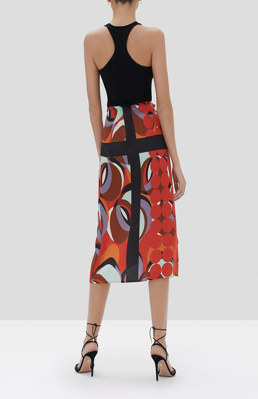 Alexis Quora Skirt in Red Eclipse from the Fall Winter 2019 Ready To Wear Collection - Rear View