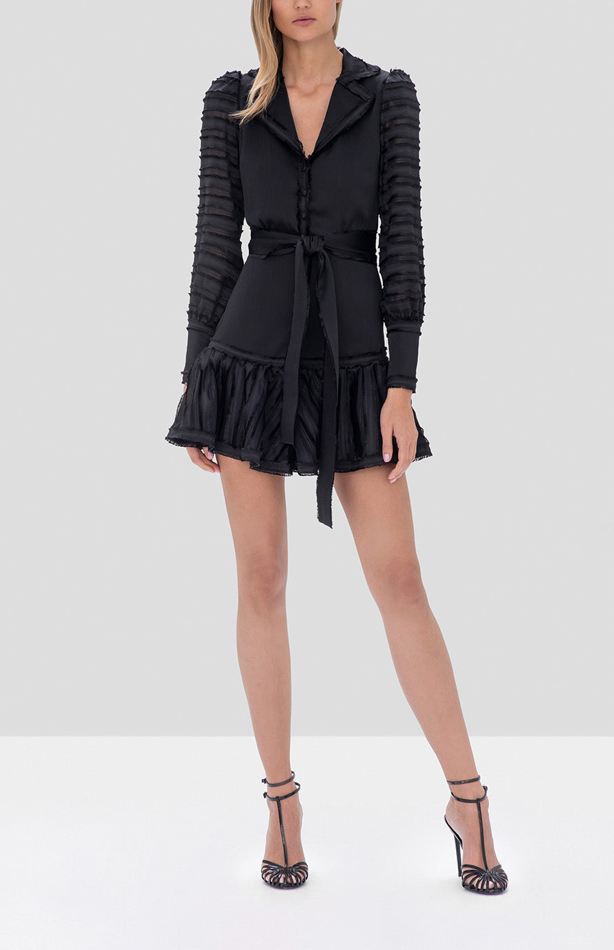 Alexis Renita Dress in Black from the Fall Winter 2019 Ready To Wear Collection - Rear View