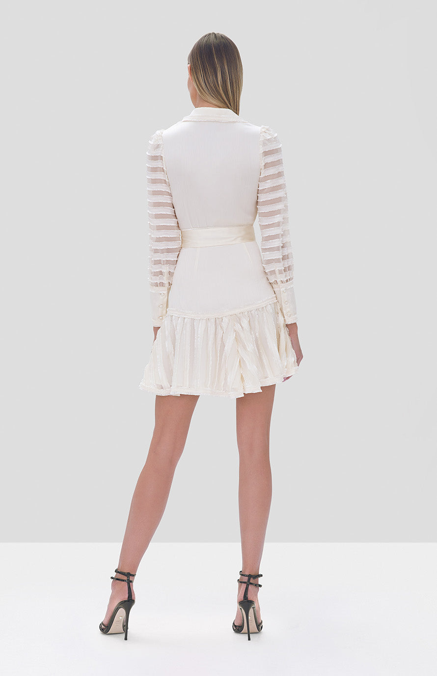 Alexis Renita Dress in Off White - Rear View