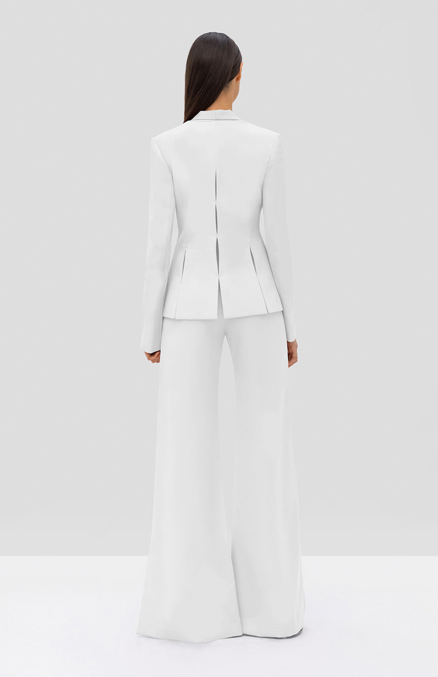 Alexis Vaska Blazer and Roque Pant White - Rear View