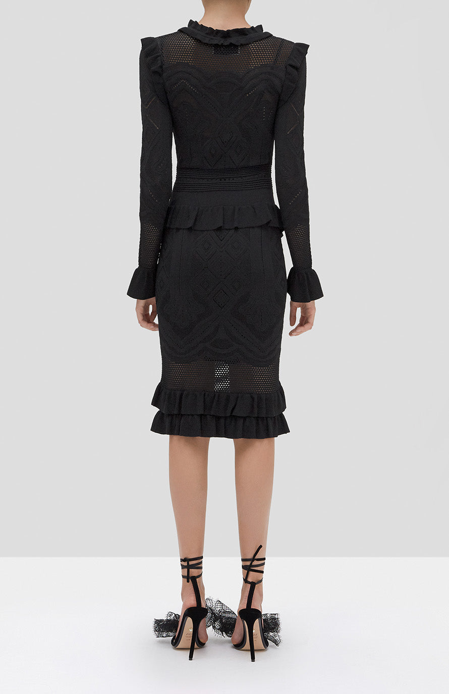 Alexis Sivan Dress in Black from our Holiday 2019 Ready to Wear Collection - Rear View