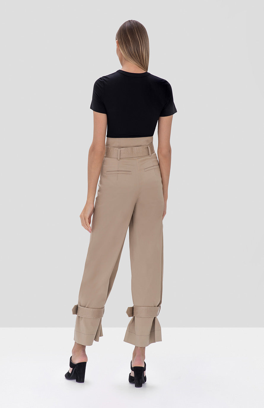 soli top black vicente pant tan - Rear View