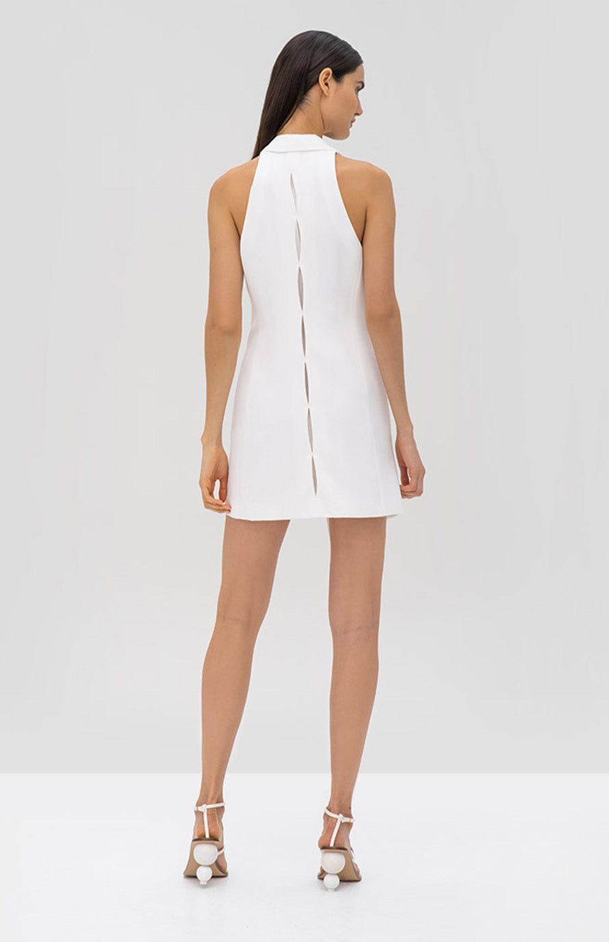 Alexis Tahlia Dress White - Rear View