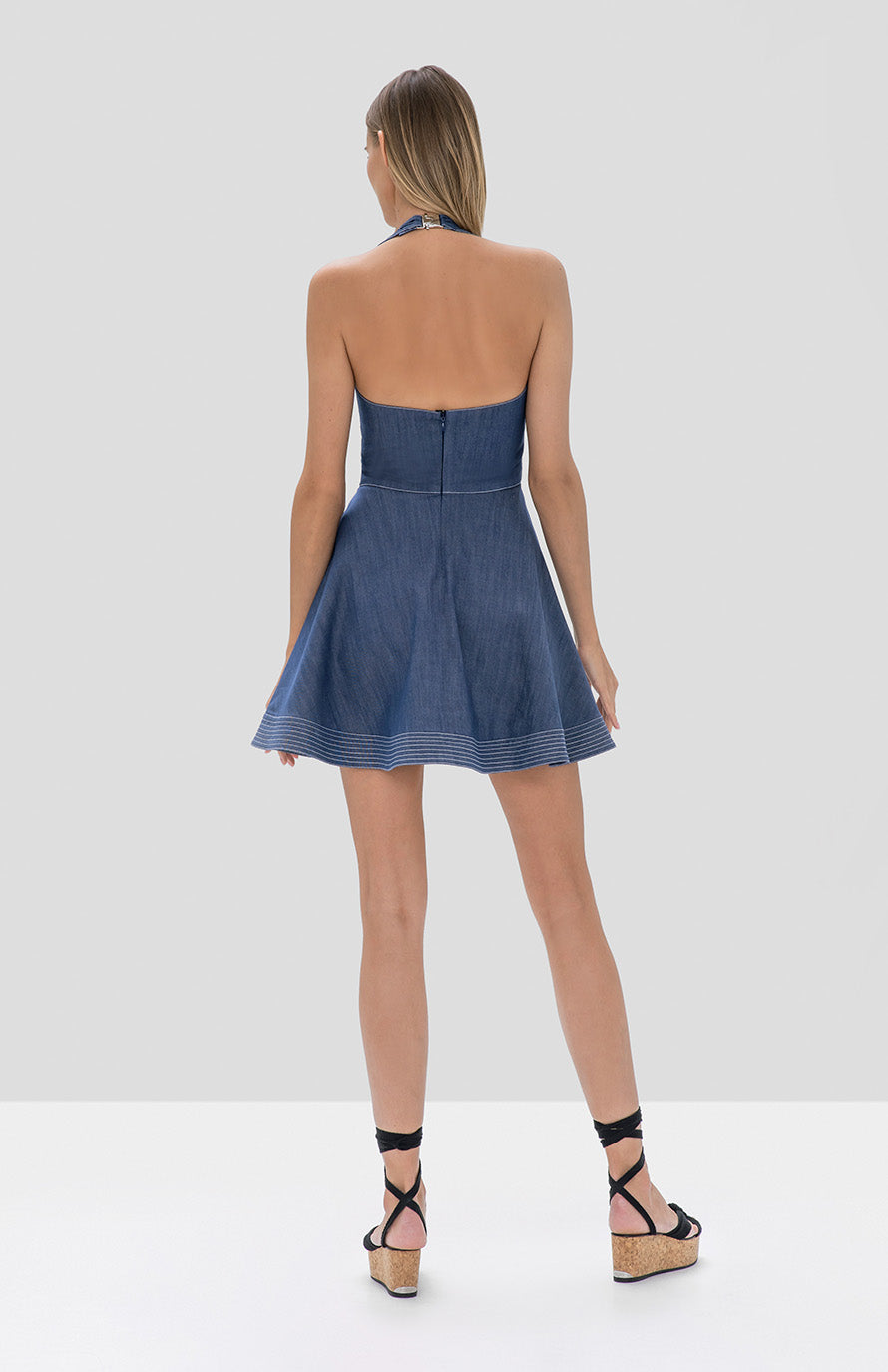 tarrana dress stone blue - Rear View