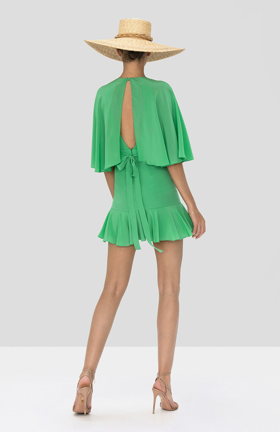 Alexis Tensia Dress in Kelly Green from Spring Summer 2020 Collection - Rear View