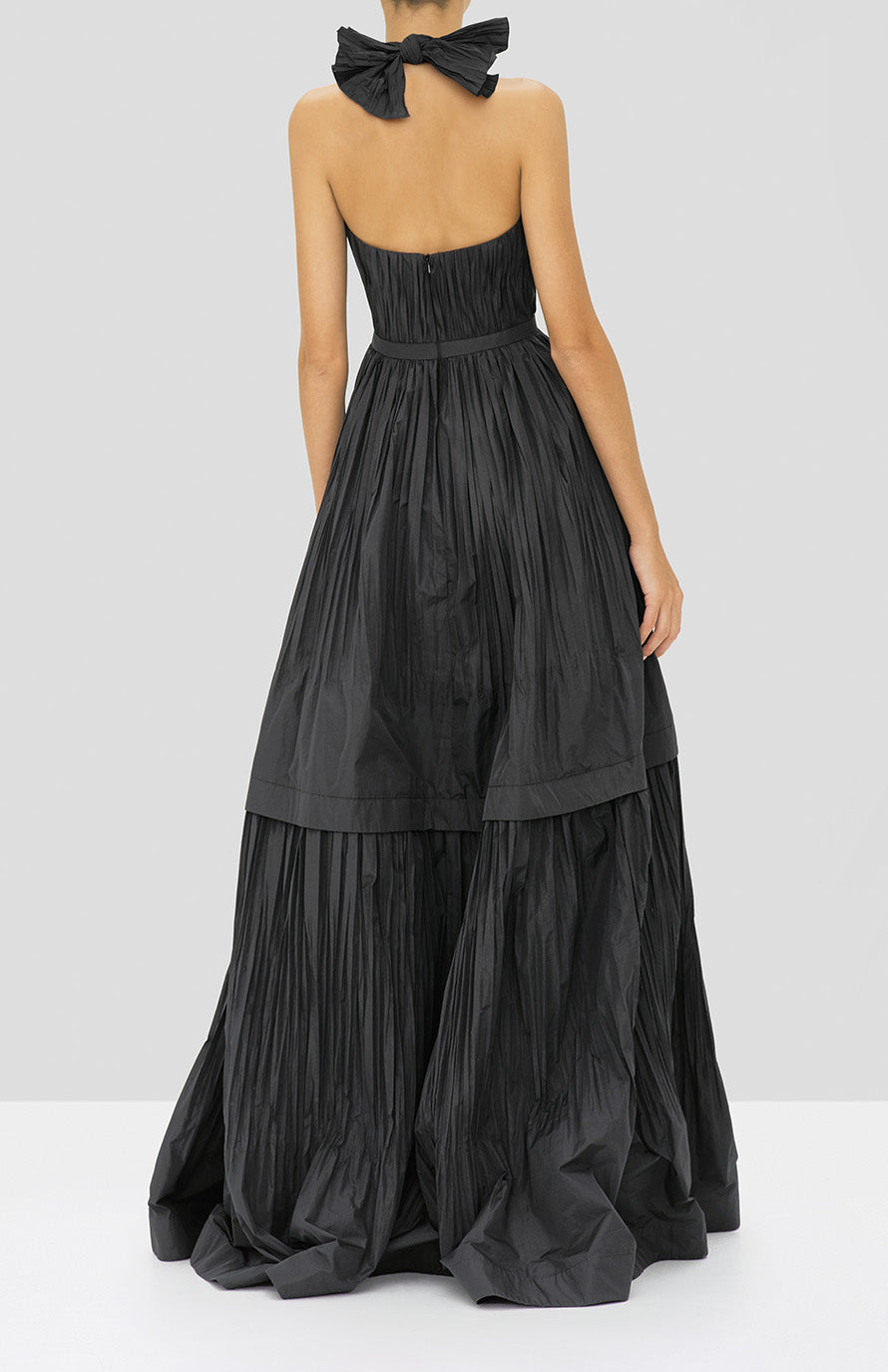 Alexis Tressa Gown in Black from the Holiday 2019 Ready To Wear Collection - Rear View