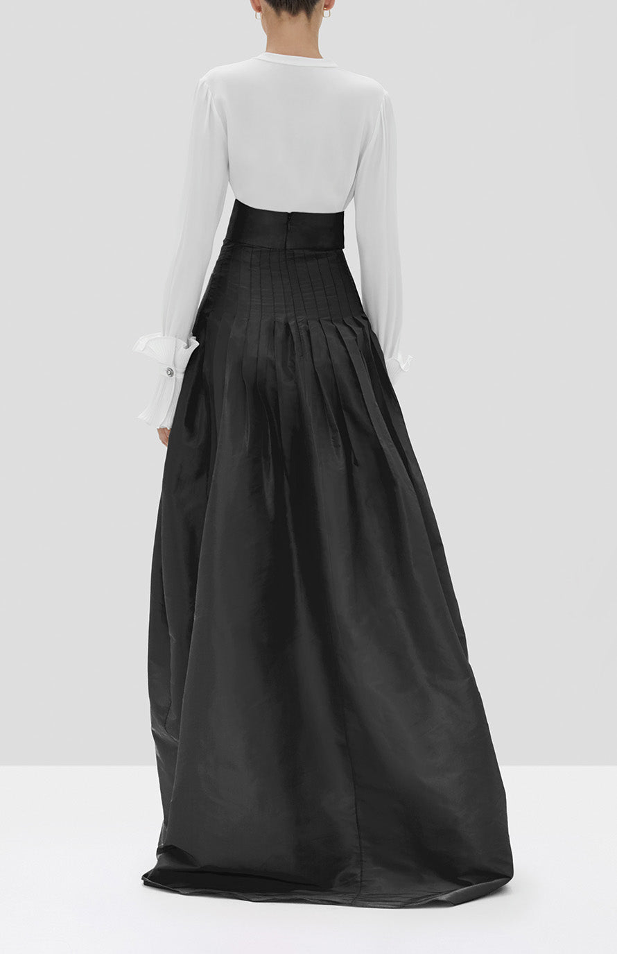Alexis Valdas Skirt in Black from the Fall Winter 2019 Ready To Wear Collection - Rear View