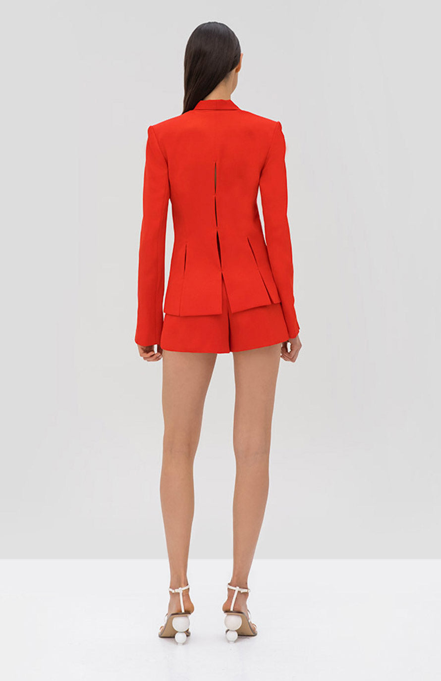 Alexis Vaska Blazer and Mikli Short Red - Rear View