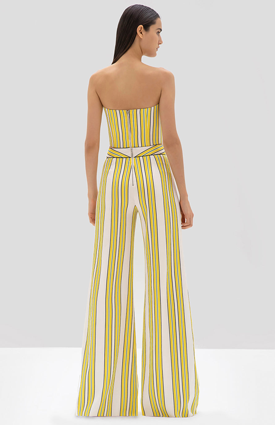 Alexis Summer Bustino tuscan stripe - Rear View