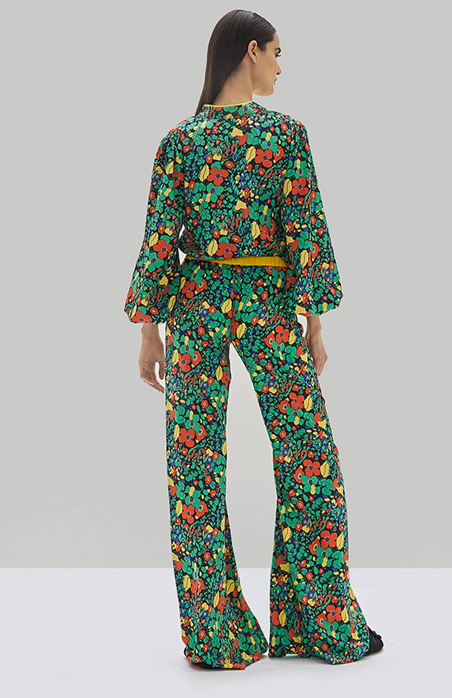Alexis Minu Top Botanical Mandarin and Hestia Pant Botanical Mandarin - Rear View