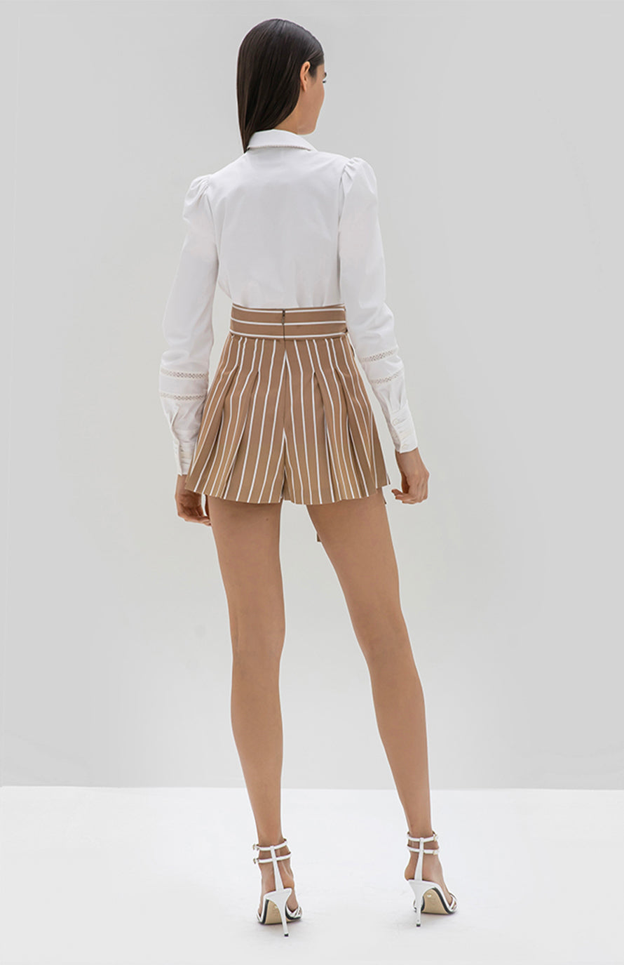 Alexis Noya short tan stripe - Rear View