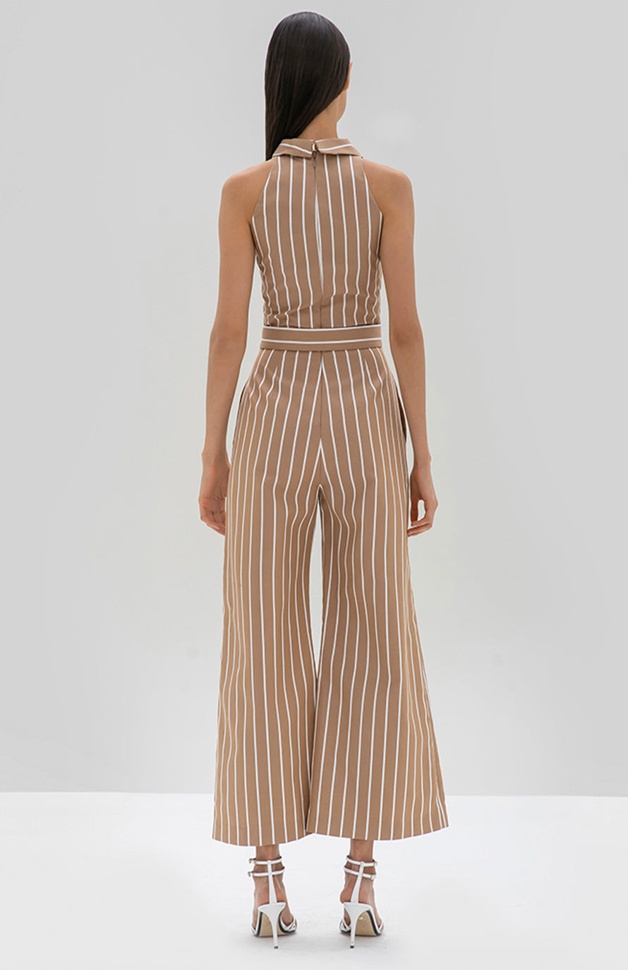 Alexis Eckhart Jumpsuit tan stripe - Rear View