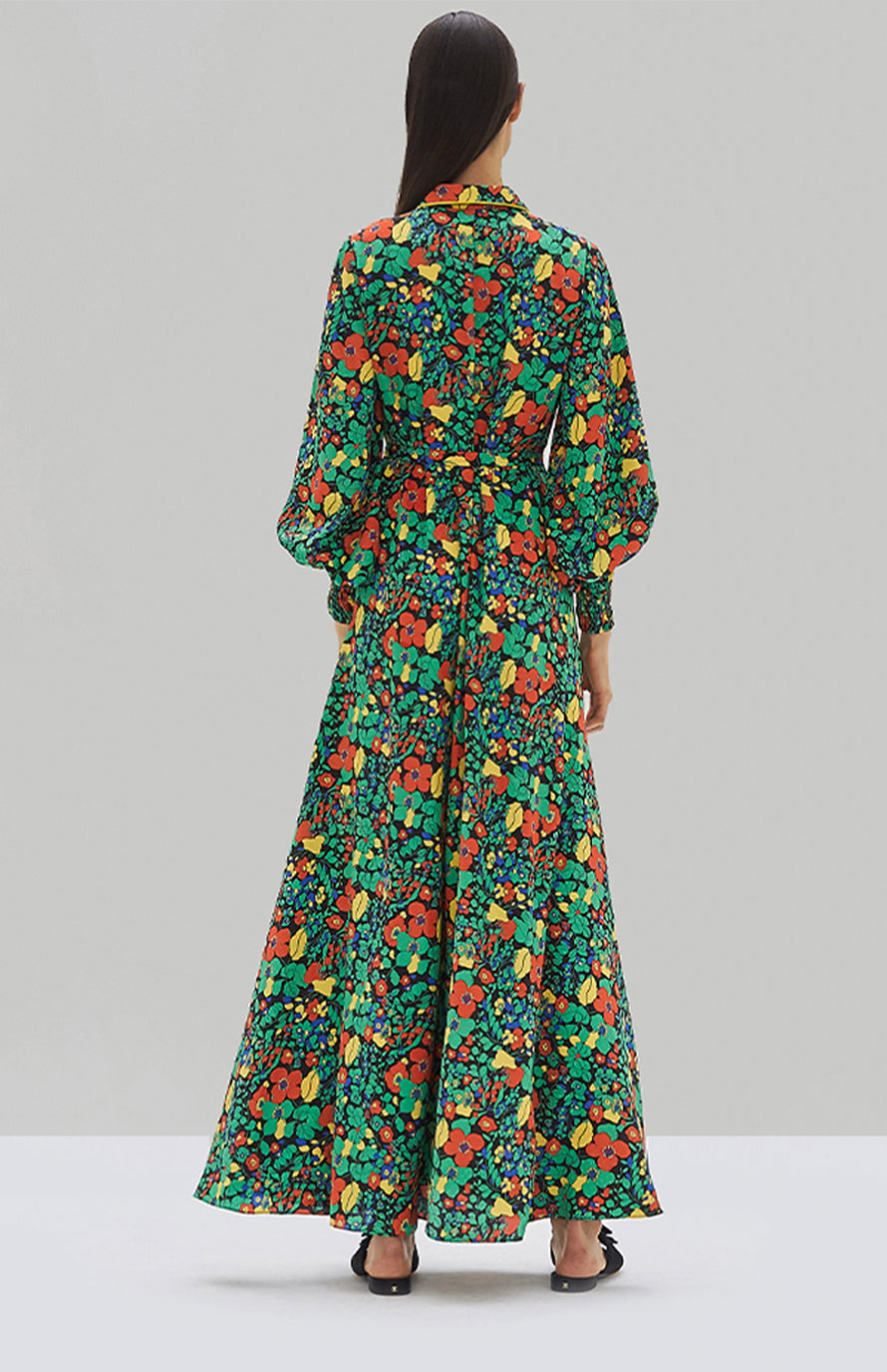 Alexis Hiroka Robe Botanical Mondrian - Rear View