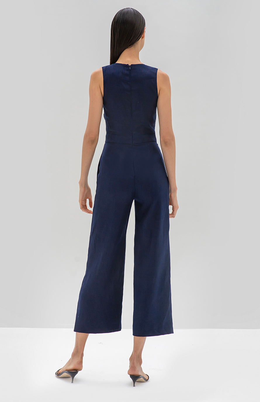 Alexis Odalys Jumpsuit Midnight Blue - Rear View