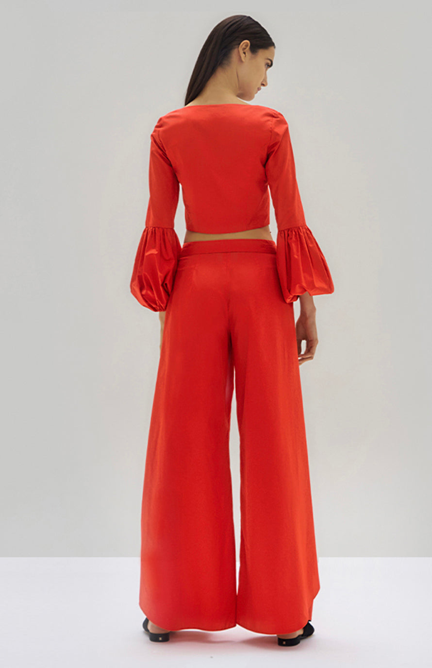 Alexis Ottera Top and Osborne Pant Scarlet Red - Rear View