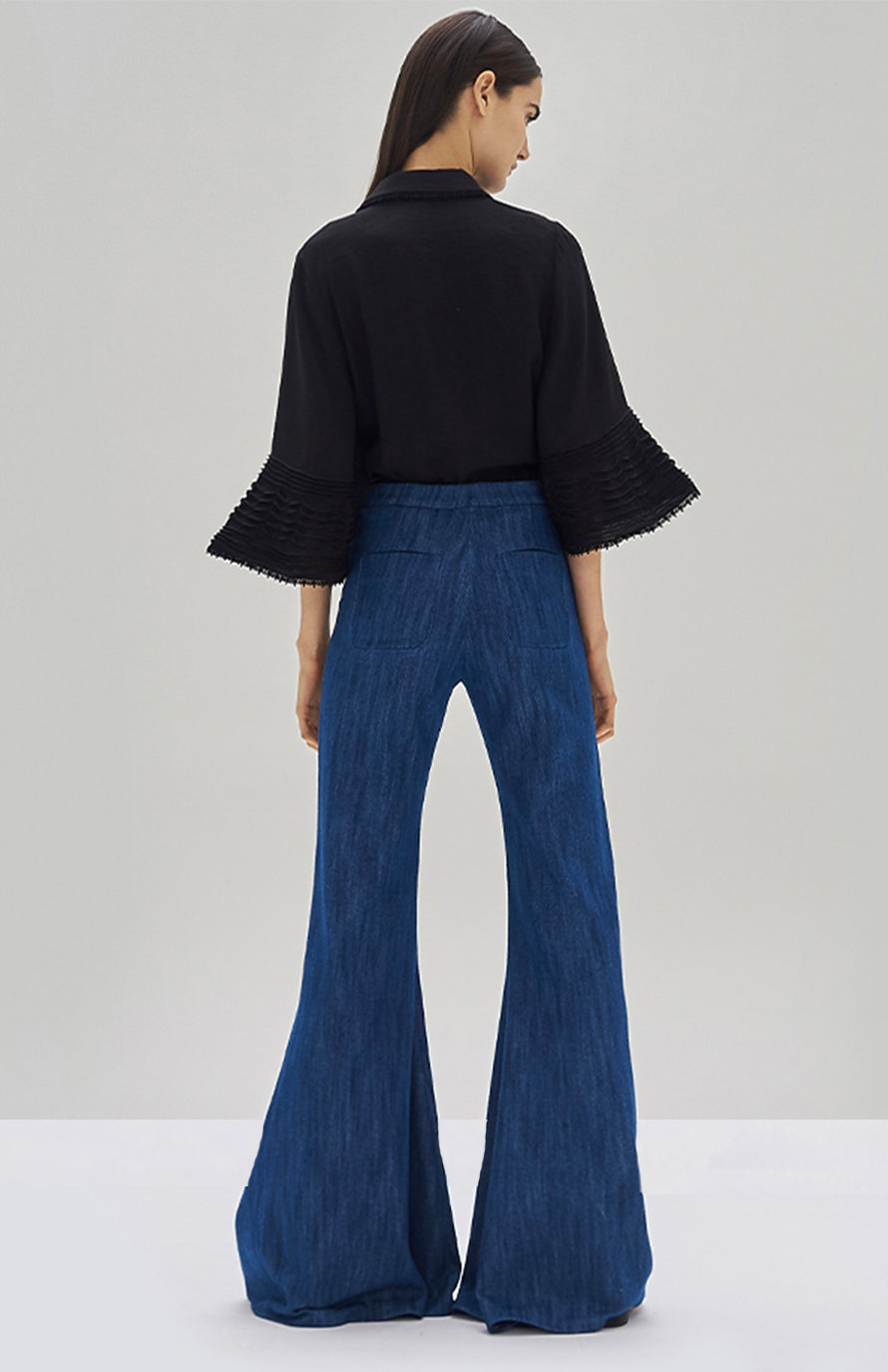 Alexis Tylar Top Black and Carlisle Pant - Rear View