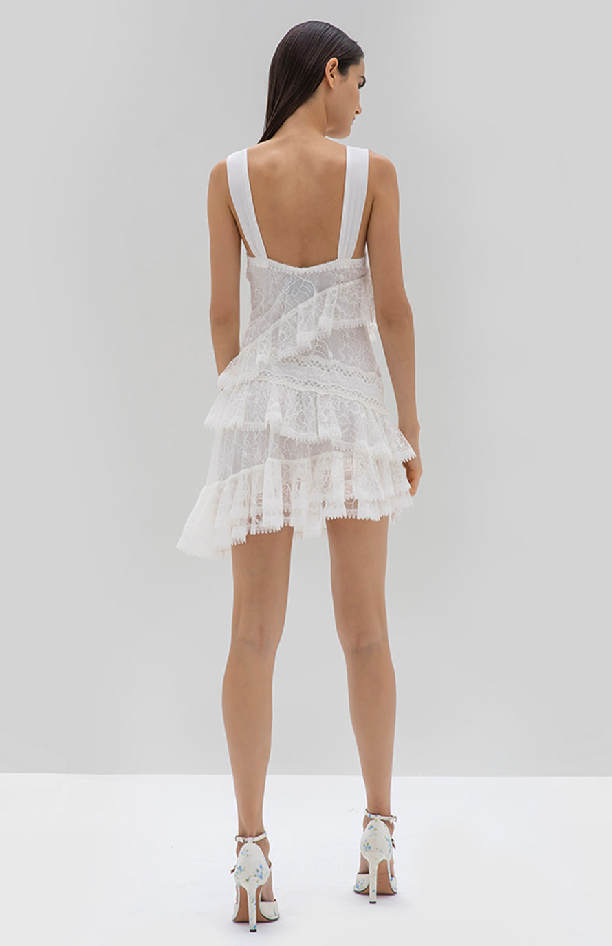 Alexis Ladonna Dress white - Rear View