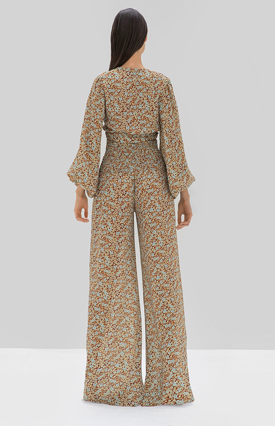 Weatherly Pant Sienna Floral - Rear View